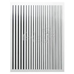 Гибкие 3D ленты полоски для дизайна ногтей D-088, черные