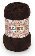 Пряжа Alize FOREVER коричневый №26 микрофибра для ручного вязания, летняя