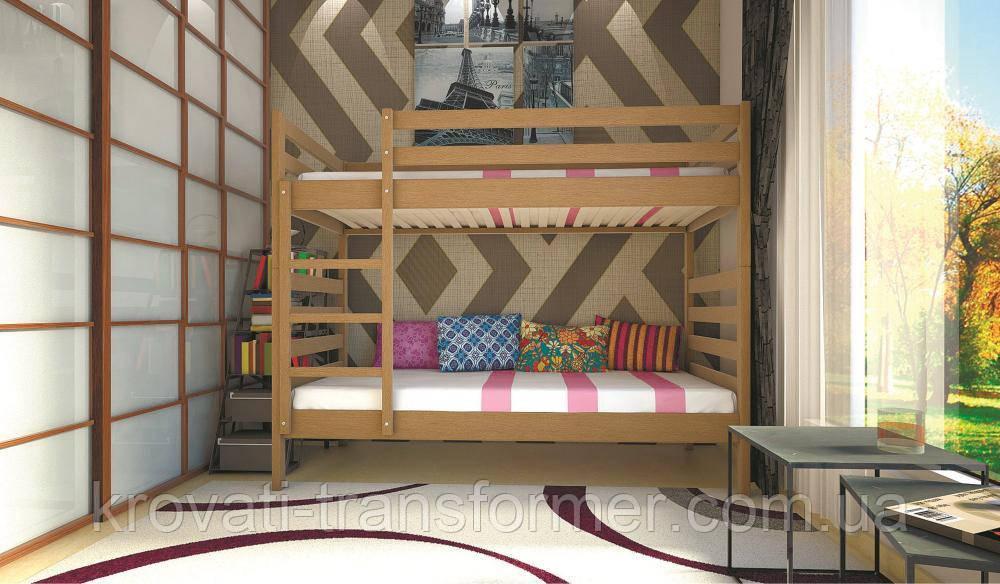 Кровать ТИС Трансформер-1 90*200 дуб