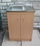 Мийка для посуду з тумбою 60х50 накладна (Глибока), фото 2
