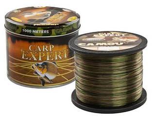 Рибальська волосінь 1000 метрів Carp Expert веселка 0.25 мм, 8.9 кг оригінал