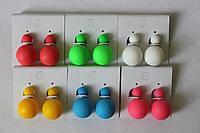 Пусеты матовые (шарики с двух сторон), фото 1