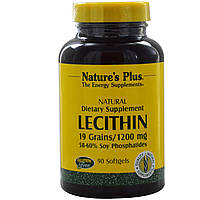 Лецитин (Lecithin) Nature's Plus 1200 мг 90 капсул
