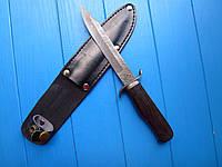 Нож Дамаск финка легендарная  эксклюзив,ручная работа(темное дерево)