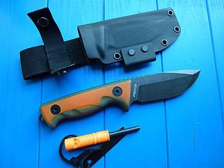 Нож  тактический 8CR13MOV нескладной WK 0316 ( лезвие 5 мм!!) +огниво