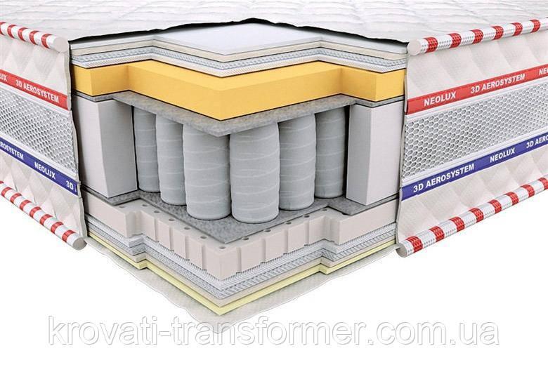 Ортопедический матрас 3D Империал Мемори Зима-лето PS 140х190