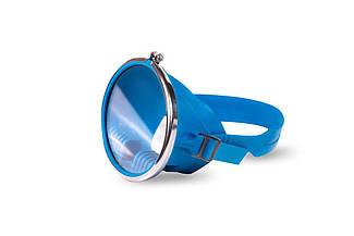 Маска глубоководная  для плаванья  синяя