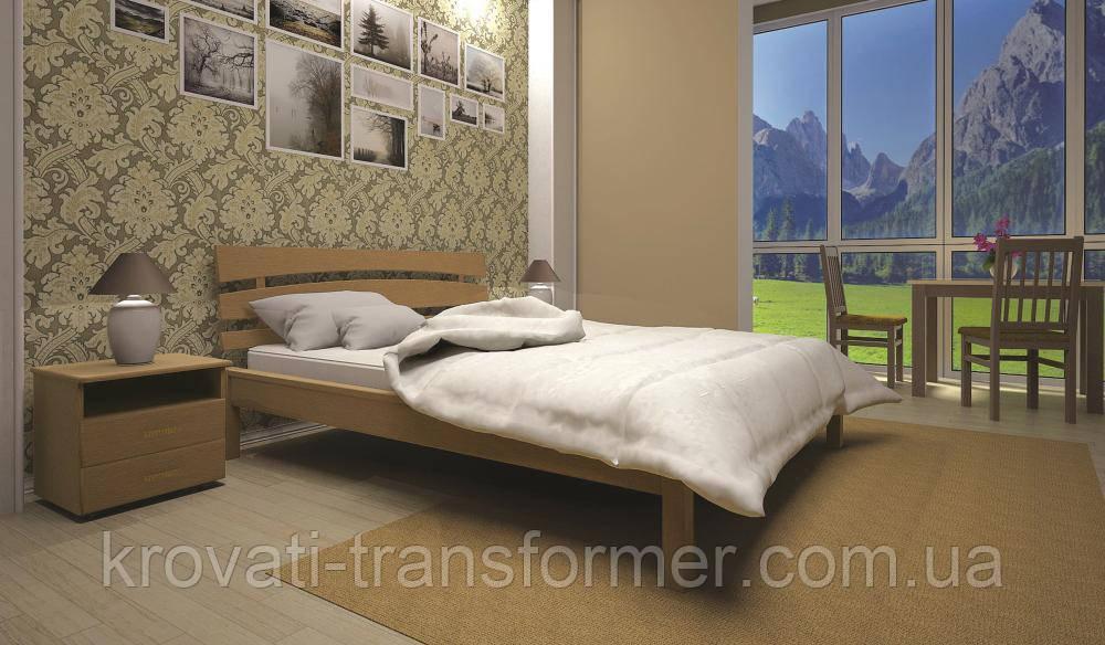 Кровать ТИС ДОМІНО 3 140*190 дуб