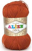 Пряжа Alize Diva терракот №36 летняя для ручного вязания