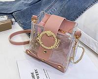 Молодежная женская сумка на цепочке силиконовая в стиле Marc jacobs