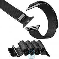 Ремешок Apple Watch Milanese loop 38mm black черный