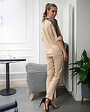 Костюм женский летний стильный брюки+блузка супер софт+стрейч сетка размеры:42-44,46-48,50-52,54-56, фото 3