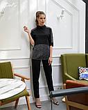 Костюм женский летний стильный брюки+блузка супер софт+стрейч сетка размеры:42-44,46-48,50-52,54-56, фото 4