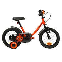 Дитячий велосипед робот з ручними ножним гальмом і бічними коліщатками ( 3-5 років,14 дюймів колеса), фото 1