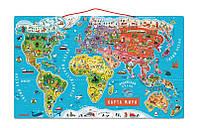 "Janod - магнитный пазл ""Карта мира"" (русс.язык), фото 1"