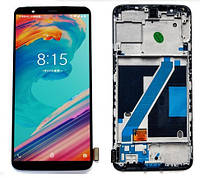 Дисплей OnePlus 5 with touchscreen black with frame