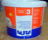 Краска для высококачественной отделки потолков и стен Luxpro 3 Aura Eskaro 10 л