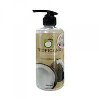 Шампунь Тропикана с экстрактом кокосового масла, миндальным маслом и женьшенем.