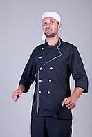 Спец одежда - штаны+китель шеф-повара черный 44-56