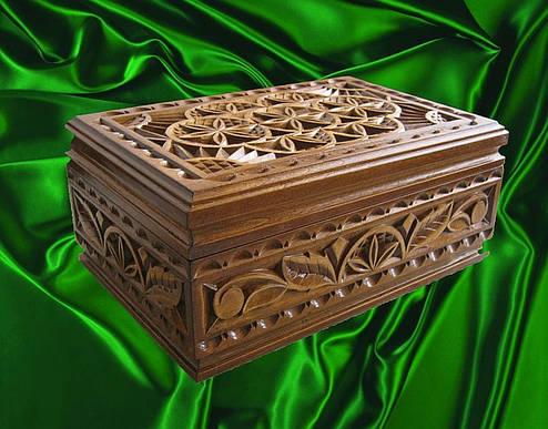 Шкатулка подарочная резная, фото 2