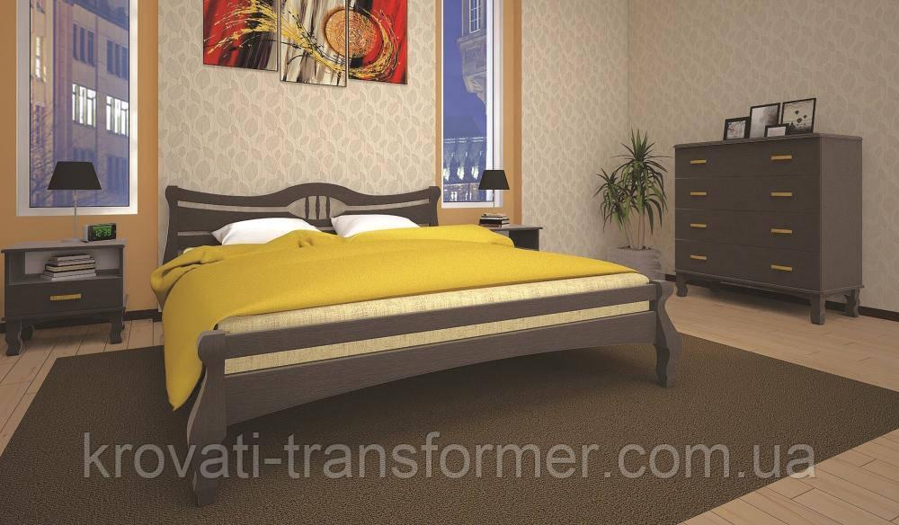 Кровать ТИС КОРОНА 1 140*200 дуб