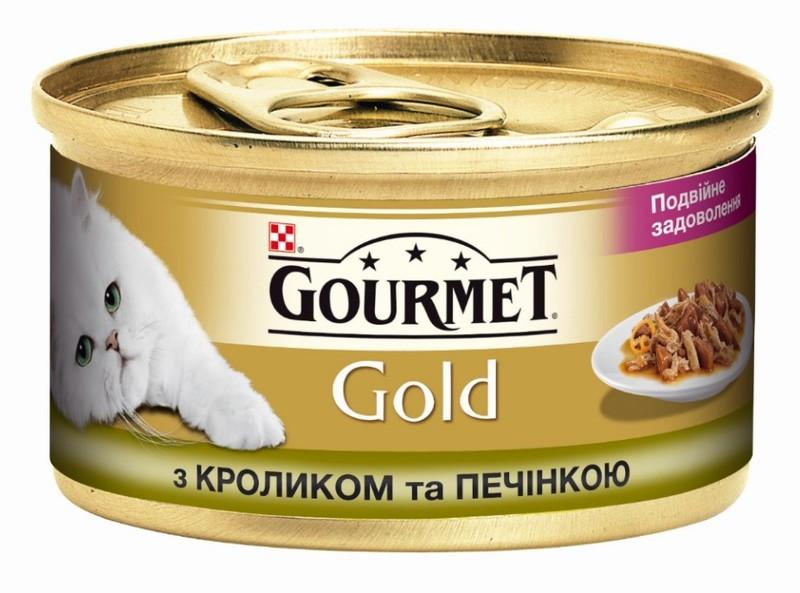 Gourmet Gold (Гурмет Голд) с кроликом и печенью 85 г x 12 шт