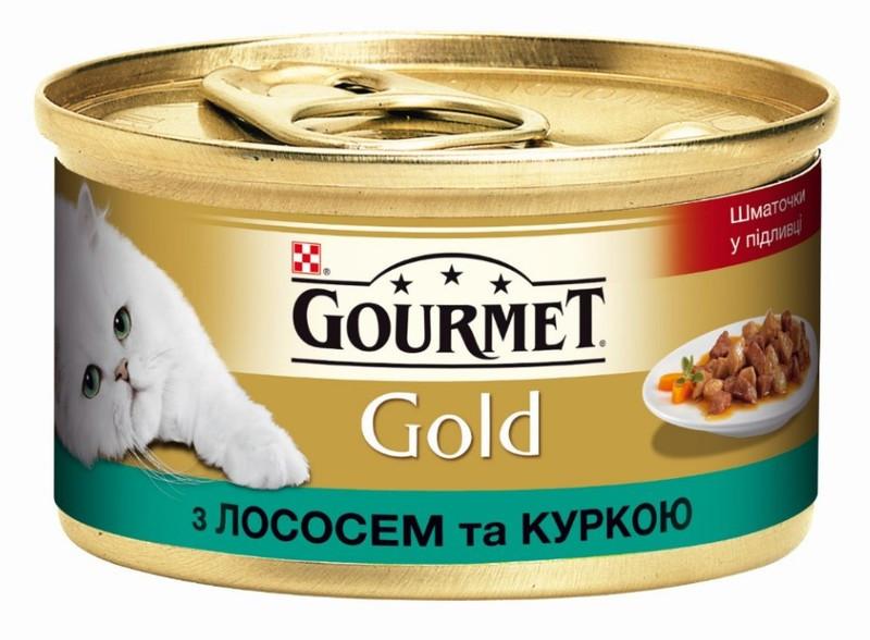 Gourmet Gold (Гурмет Голд) с лососем и цыпленком 85 г x 12 шт