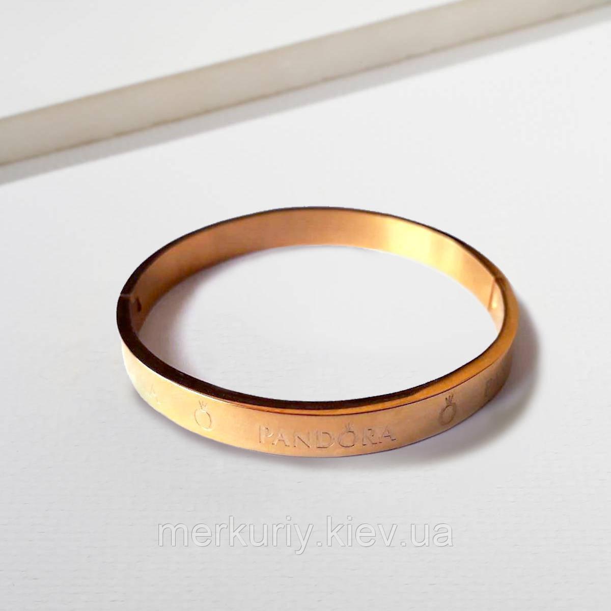 Браслет кольцо на запястье Pandora пандора