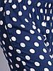 Штаны летние легкие синие в белый горох, штапель, 44-48 р-ры