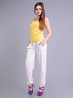 Штаны летние легкие белые, штапель, 48 р-р, фото 1