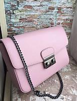 Женская сумка через плечо из натуральной кожи , Клатч италия vera pelle кожа Розовый
