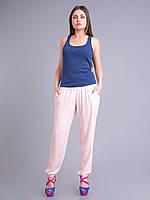 Штаны летние легкие розовые, штапель, 46-58 р-ры