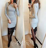 Платье с разрезом сбоку