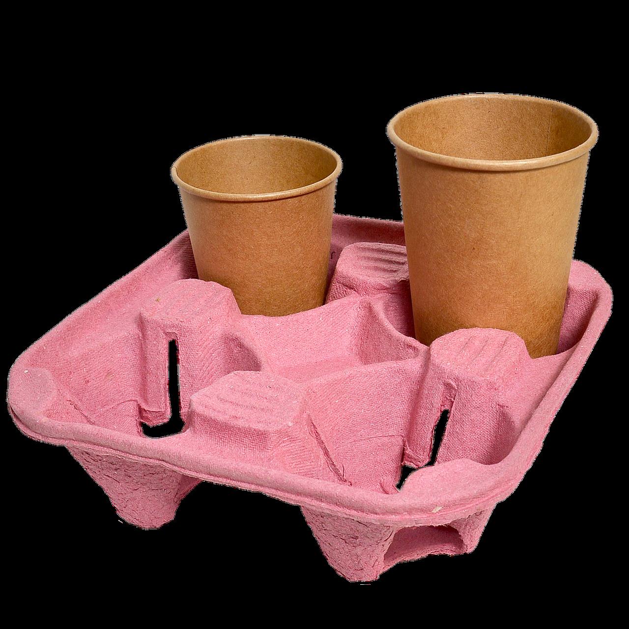 Подставка для стакана 4-секции, 1шт (1уп/130шт) Розовая