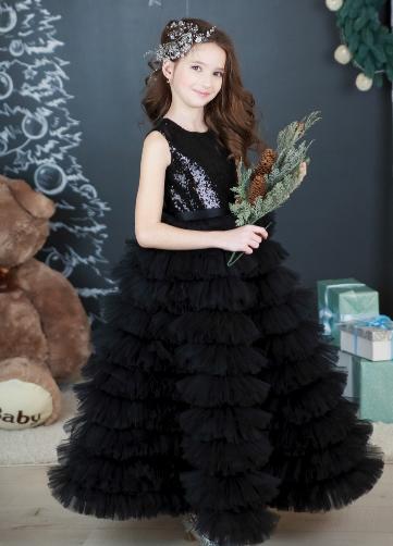 Детское платье длинное
