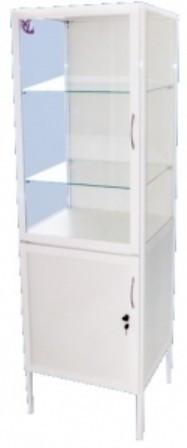 Шкаф медицинский одностворчатый с сейфом ШМС-4 Праймед