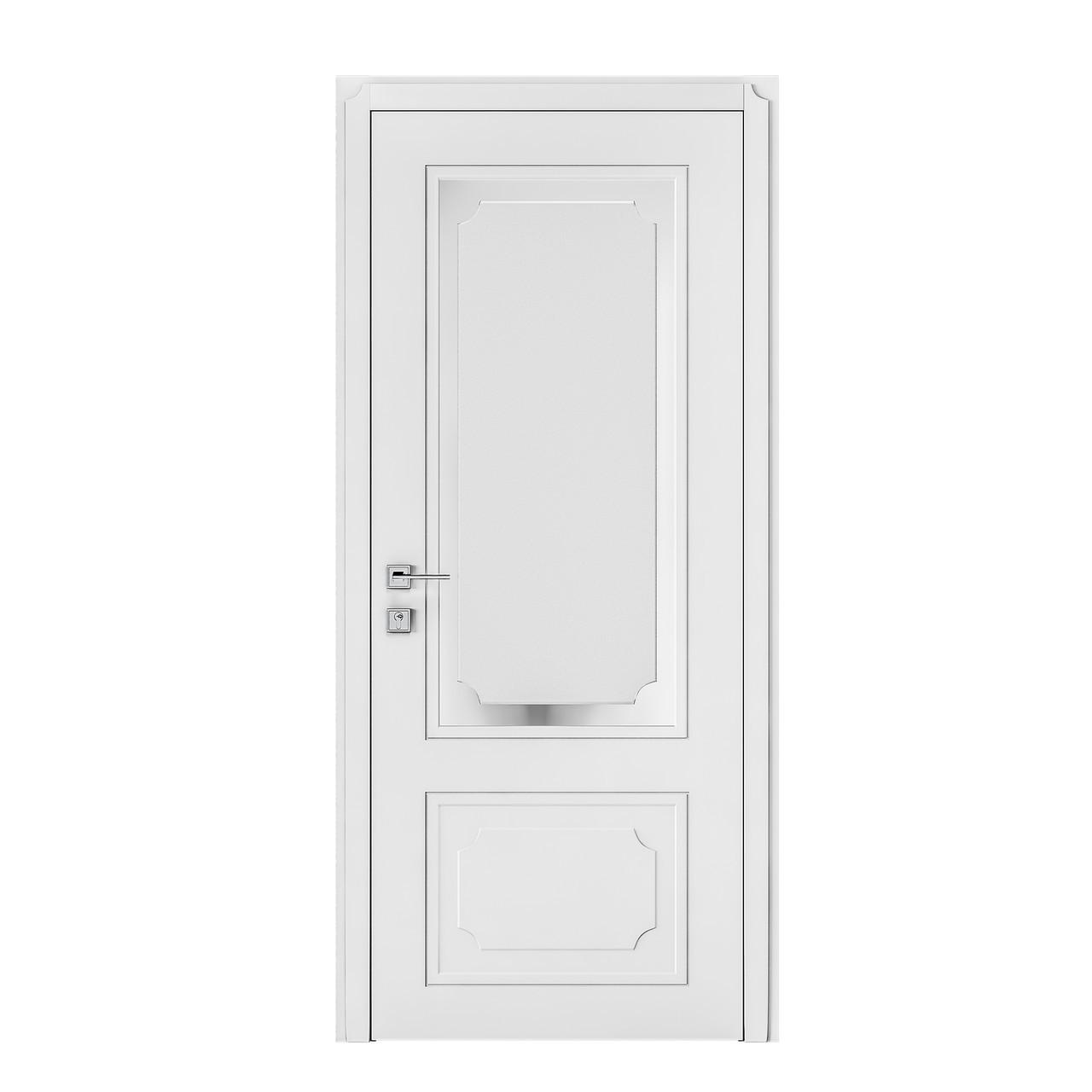 Двери Родос Cortes Selena стекло белый мат