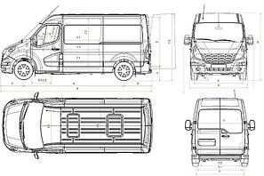 Детали кузова Renault Master, Opel Movano