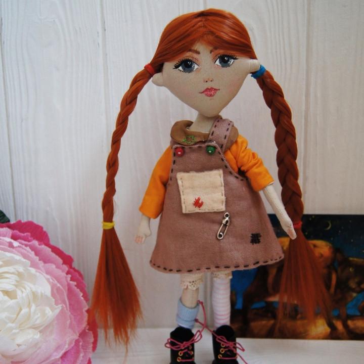 Текстильная кукла Пэппи Длинныйчулок