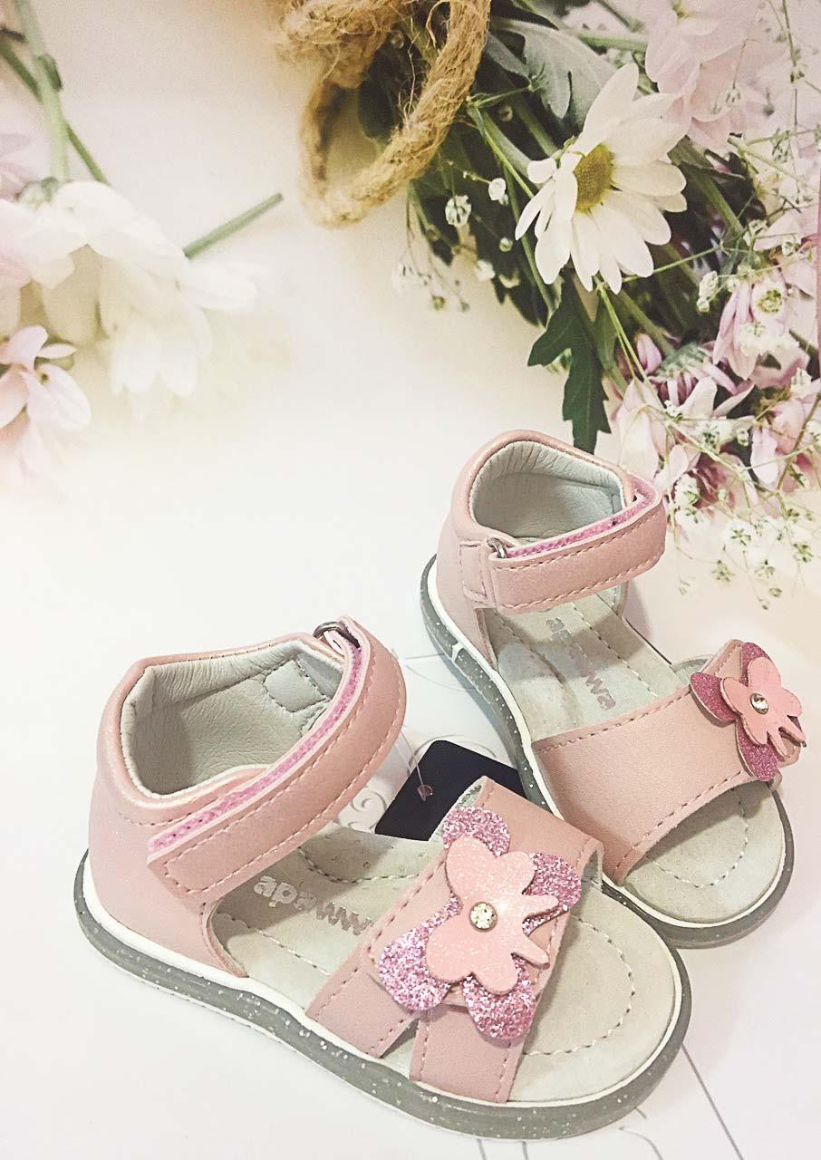 Детские   босоножки, сандалии Clibee  Apawwa для девочки,размеры 20-21-22-23 (перламутровые/розовые)
