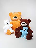 Мягкая игрушка - медведь сидячий Бублик 43 см
