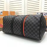 Дорожная сумка Луи Витон, канва Damier Cobalt 45 см, кожаная реплика, фото 2