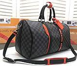 Дорожная сумка Луи Витон, канва Damier Cobalt 45 см, кожаная реплика, фото 3