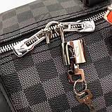 Дорожная сумка Луи Витон, канва Damier Cobalt 45 см, кожаная реплика, фото 5