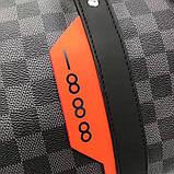 Дорожная сумка Луи Витон, канва Damier Cobalt 45 см, кожаная реплика, фото 8