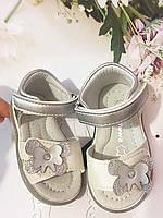 Детские   босоножки, сандалии Apawwa для девочки,размеры 18-21-22-23 (белые/серебро), фото 1