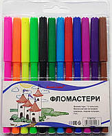 Фломастери 12 кол в уп, 1мм SWEET COLOR