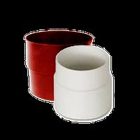 Муфта трубы d=90 мм (белый коричневый красный)