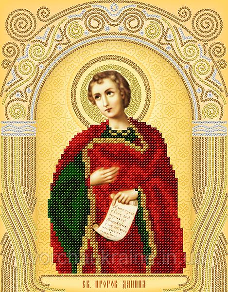 Схема на ткани для вышивания бисером Св.Пророк Даниил. А-строчка