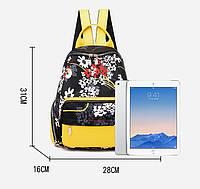Женский тканевый рюкзак (желтый)
